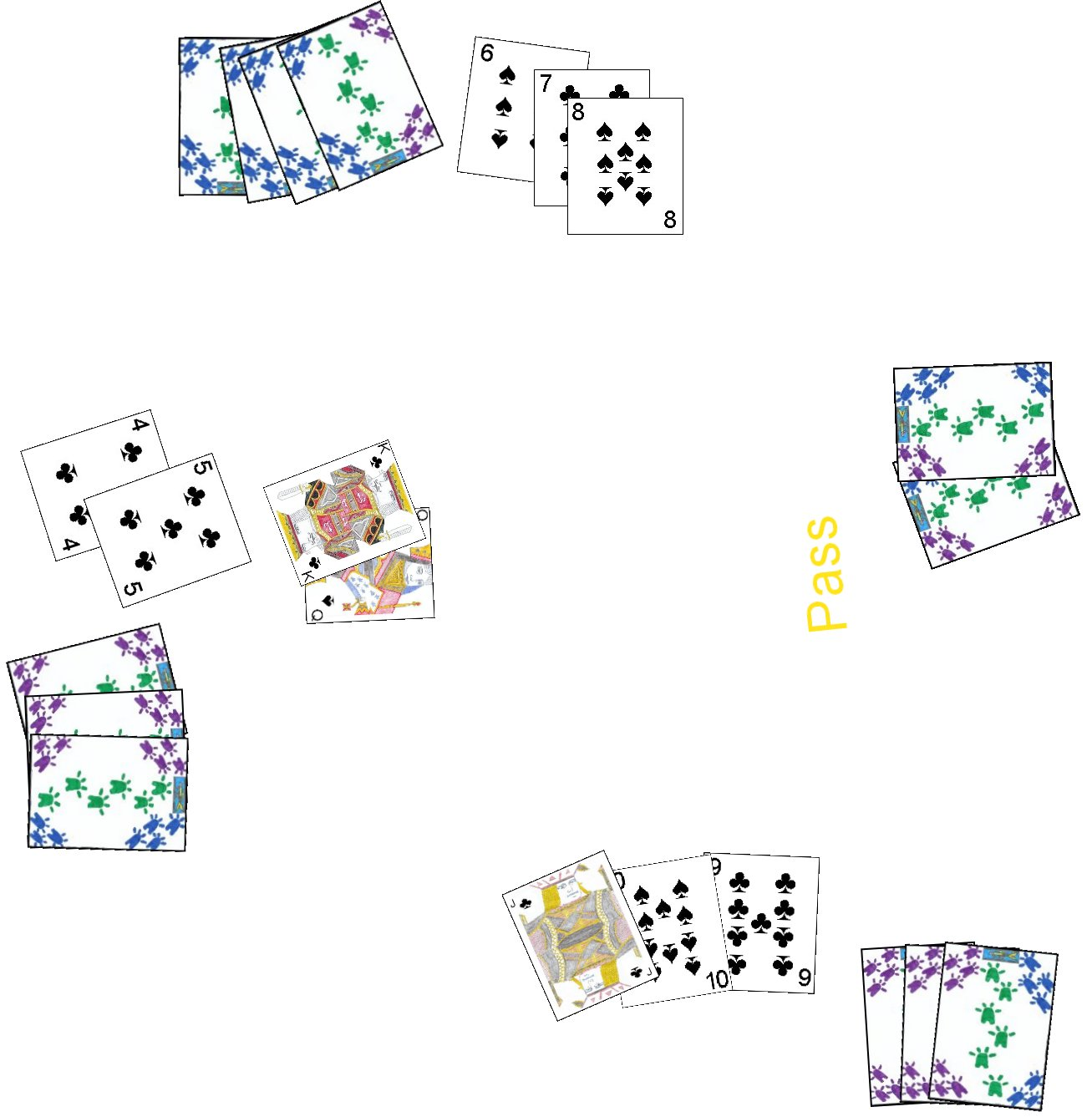 A Sequence being played in the card game Comet